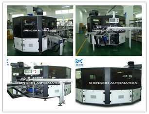 Flat Bed Silk Automatic Screen Printing Machine Turntable Type